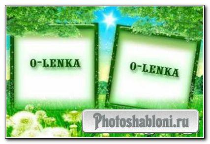 Рамка для фотошопа - Одуванчики