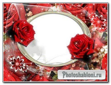"""Рамка для фотошопа """"Розы"""""""