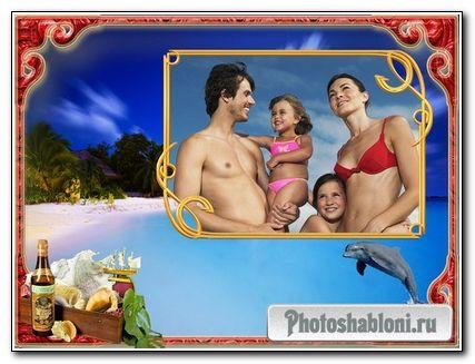 Семейная фоторамка - отдых у моря