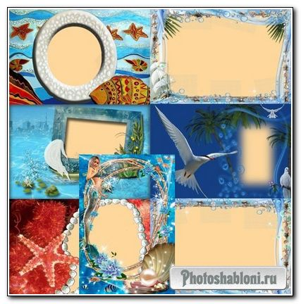 Рамки для фотошоп - Морской берег