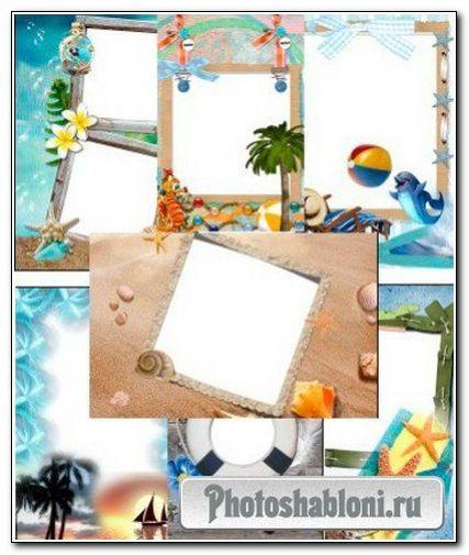 Рамки для фотошопа - Морские звезды