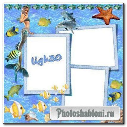 Рамка для фотошопа Морское путешествие
