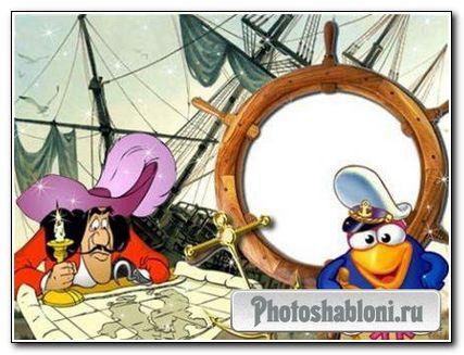 Рамочка для фотошопа - Морская
