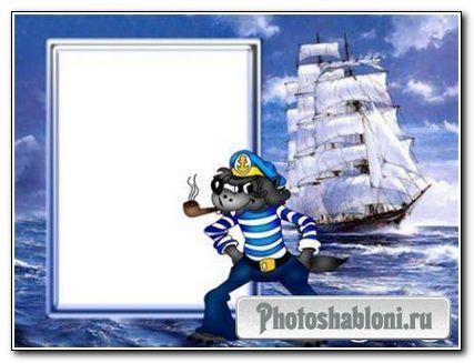 Рамочка для фотошопа - Морской волк