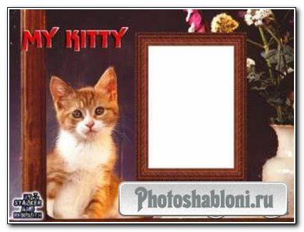 """Рамочка для фото """"Мой котенок"""""""