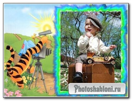 Рамка для Photoshop - Тигра-фотограф