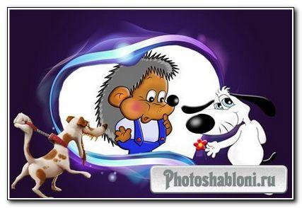 Рамочка для фотошопа «Собачки»