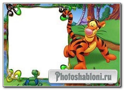 Рамка для фотошопа Тигра