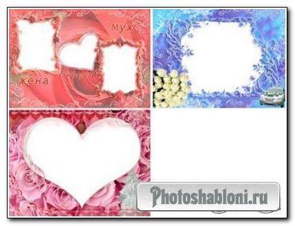 Свадебные рамки для Photoshop