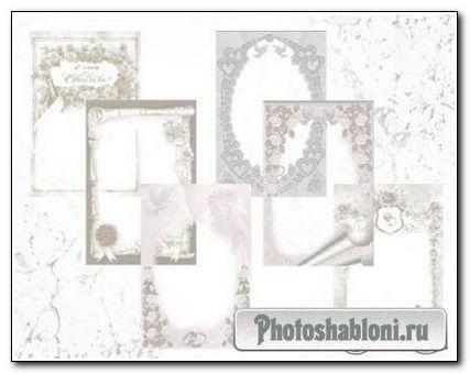 Набор свадебных рамок для Фотошопа