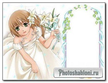 Рамочка для фотошопа - Свадебная