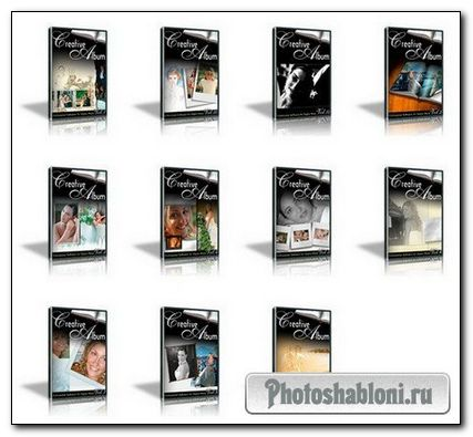 Креативный свадебный альбом для Adobe Photoshop (vol. 1-12)