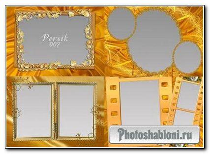 Набор золотых рамочек для фотошопа (2 часть)