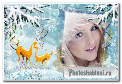 Рамка для Photoshop – Зимние узоры