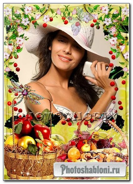 Рамка для Photoshop – Осенний урожай