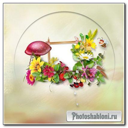 Скрап-страничка фоторамка для Adobe Photoshop - Летняя-3