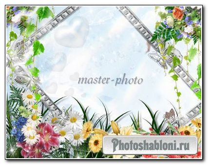 Рамка для фотошопа Весеннее настроение