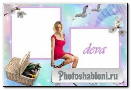 Рамочка для фотошопа - Мечты о Весне