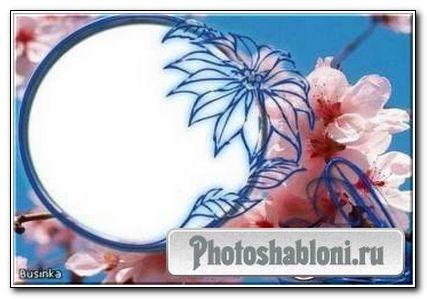 Рамочка для фотошопа - Весенняя